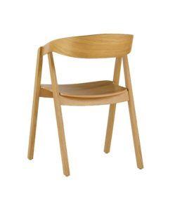 Nowoczesny fotel dębowy LOX-BS sztaplowany do restairacji