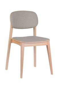 Dębowe sztaplowane krzesło nowoczesne ALLEGRI-AS Meble Radomsko