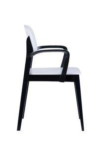 Fotel nowoczesny biały czarny ALLEGRI-BS Meble Radomsko