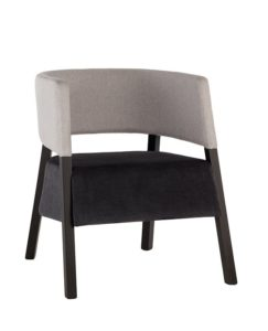 Fotel ATOM-BS kolor szary czarny