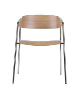 Designerski fotel nowoczesny metalowy CAVA-STEEL-CR