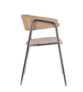 Fotel nowoczesny metalowy CAVA-STEEL-CR