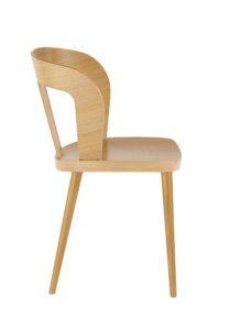 Nowoczesne krzesło dębowe DIKA AS w kolorze naturalnym