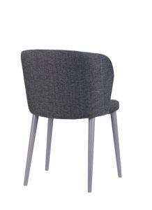 Nowoczesne krzesło tapicerowane DIKA 2 AS projekt Y.Sarri kolor szary