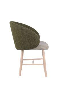 Designerski fotel tapicerowany do restauracji MON BS