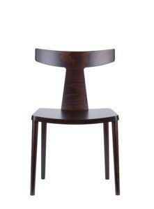 Designerskie krzesło drewniane do salonu
