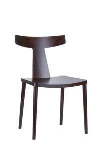 Designerskie krzesło drewniane TIRO AS Kolekcja Mediolan od Meble Radomsko