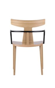Designerski fotel drewniany TIRO do salonu