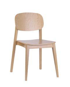Dębowe krzesło nowoczesne ALLEGRI-AS sztaplowane