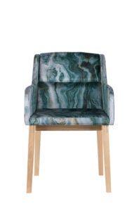 Fotel tapicerowany marmurkowy COMFI-BS
