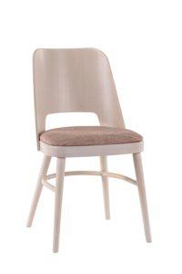 Drewniane krzesło z siedziskiem tapicerowanym AP-0043