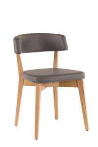 Krzesło nowoczesne szare SITA-A