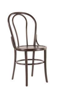 Krzesło gięte drewniane AG-18-1 z łącznikem wzmacniającym i obręczą w kształcie kółka