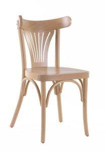 Gięte krzesło AG-56-BF w kolorze jasnym naturalnym