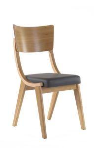 Krzesło o nowoczesnym designie dębowe inna nazwa Skoczek PRL