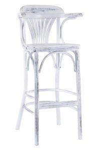 Hoker barowy drewniany gięty BSG-165-B krzesło barowe typu tonet Radomsko