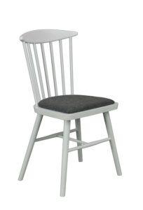 Krzesło Drewniane typu patyczak SPINDLE AN z siedziskiem tapicerowanym