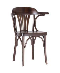 Fotel gięty BG-165-B, krzesło z podłokietnikami do restauracji typu Sphinx