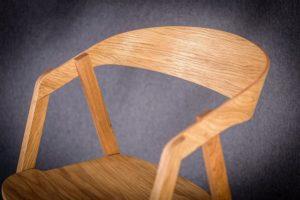 Oparcie fotela olejowanego dębowego LOX BS