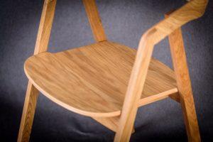 Podłokietnik fotela olejowanego dębowego LOX BS