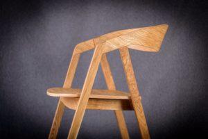Bok fotela olejowanego dębowego LOX BS