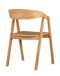 Designerski nowoczesny fotel drewniany LOX olejowany olejem naturalnym
