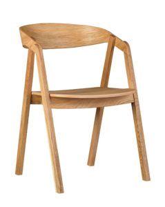 Designerski fotel drewniany dębowy LOX olejowany olejem naturalnym