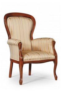 Oryginalny włoski fotel stylowy tapicerowany BW 1002-V