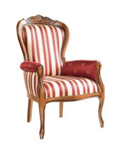 Oryginalny włoski fotel stylowy tapicerowany BW 1003-V