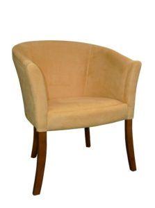Tapicerowany fotel nowoczesny kubełkowy