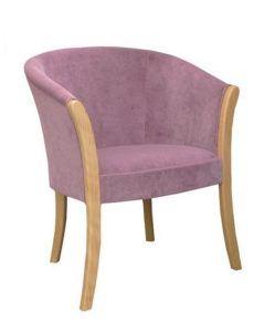 Tapicerowany fotel kubełkowy stylizowany