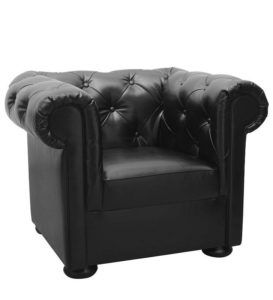 Duży fotel tapicerowany BARO typu Chesterfield