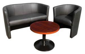 Zestaw hotelowy tapicerowany fotel i sofa NIGHTY
