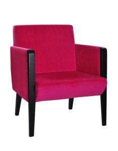 Nowoczesny tapicerowany hotelowy fotel kubełkowy KONDAL 1SF