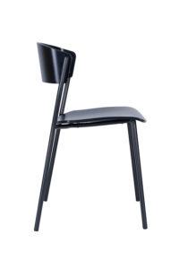 Krzesło metalowe z siedziskiem i oparciem drewnianym AS-CAVA-STEEL
