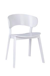 Designerskie krzesło nowoczesne DOMA-AS twarde siedzisko z kolekcji Mediolan 2020 Meble Radomsko