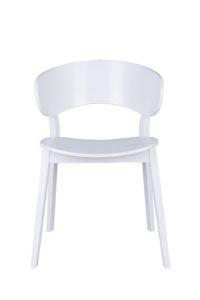 Designerskie białe krzesło drewniane DOMA-AS twarde