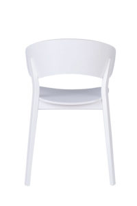Designerskie krzesło drewniane DOMA-AS twarde białe