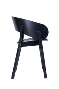 Fotel DOMA-BS czarny hiszpański designer Yago Sarri