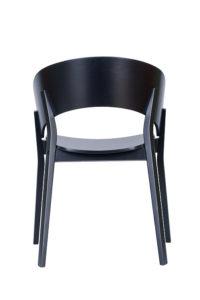 Nowoczesny fotel DOMA-BS twardy czarny z kolekcji Mediolan 2020