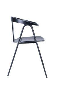 Krzesło drewniane z nogą metalową BS-UVE Nowość design Yago Sarri