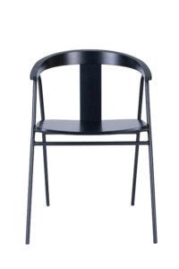 Nowość krzesło drewniane na stelażu metalowym czarnym BS-UVE czarne