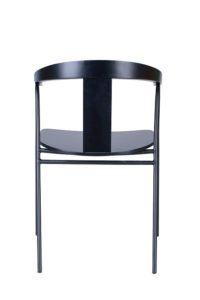 Krzesło metalowe czarne BS-UVE Nowość design Yago Sarri