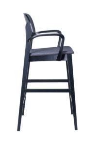 Hoker nowoczesny BST-ALLEGRI 2 krzesło barowe z podłokietnikami projektu Studio Sagitar