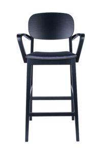 Hoker nowoczesny BST-ALLEGRI 2 krzesło barowe z podłokietnikami