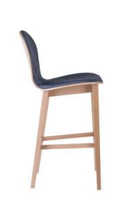 Krzesło barowe nowoczesne tapicerowane INFINITY nowość projekt Studio Sagitar