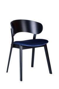 Czarne krzesło nowoczesne DOMA AS