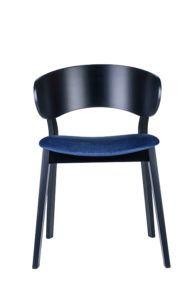 Nowoczesne krzesło DOMA AS tapicerowane czarne
