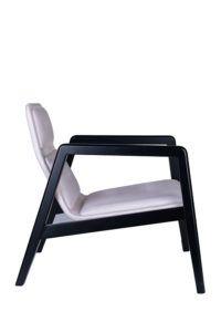 Designerski tapicerowany fotel AZURRA lounge projekt włoskiego Studia Sagitar