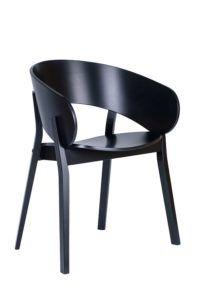 Designerski nowoczesny fotel czarny DOMA-BS z kolekcji Mediolan 2020 nowość od Meble Radomsko